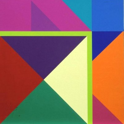 Tangram 7 - Lime Bend by abelard