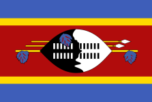 National flag of Swaziland