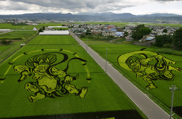 'Inakadate * 2006 in the village          of rice paddies * Art and the dragon.*