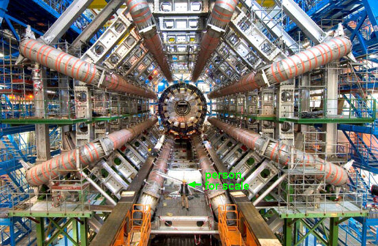 The LHC particle accelerator at CERN, Geneva. Image: CERN, Geneva