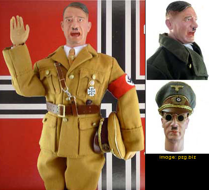 Hitler doll, comes with wardrobe and spare head. Image: pzg.biz
