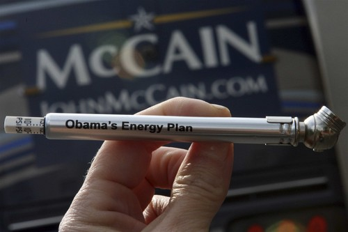 Obama's energy plan, with some help from John McCain. Image: latimes.com