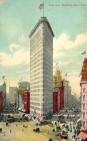 Fuller building, also known as the Flat Iron Building, New York. Opened in 1902