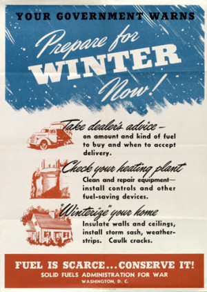Energy-saving poster from World War Two. Source: treehugger.com