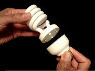 Reuse the ballast on this CFL lamp. Image: 3e-technologies.com
