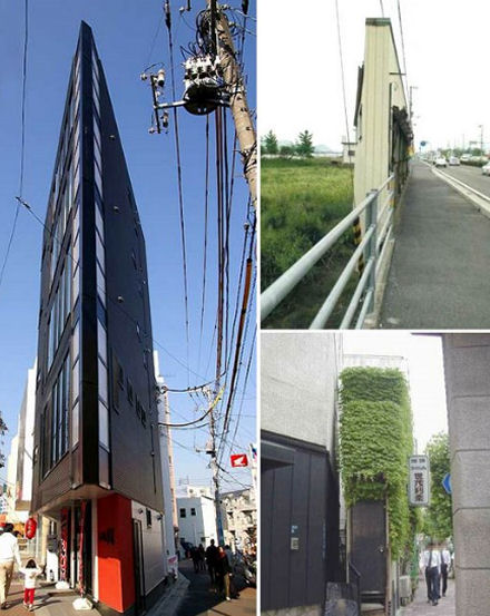 Thin buildings in Japan. Source: darkroastedblend.com