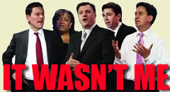 It wasn't me - Labour leadership contenders