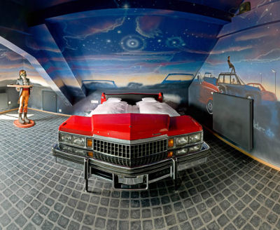 Drive-in bedroom. Image: Catering News