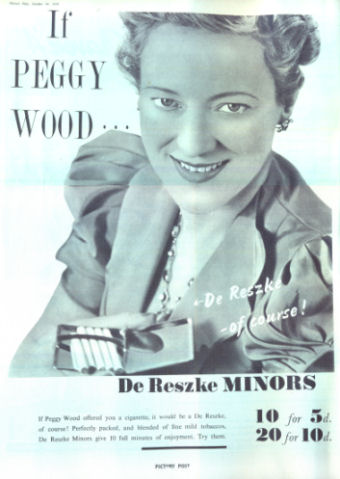 Advertised by Peggy Woods (actress), who lived to 86