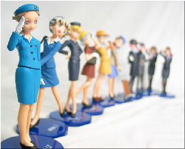 airhostess dolls from Japan. Image credit: Sakura