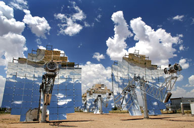 solar collectors. Image credit: Sterling Energy Systems