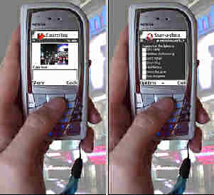 Mobile Media Metadata 2 demonstrated on a Nokia cellphone. Image credit: Garage Cinema Research