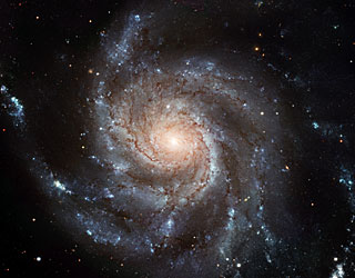Pinwheel galaxy. Image credit: NASA and ESA