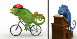 Dave the chameleon, according to the Labour Party