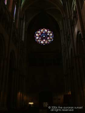 Lyon cathedral - exposed for a rose window.