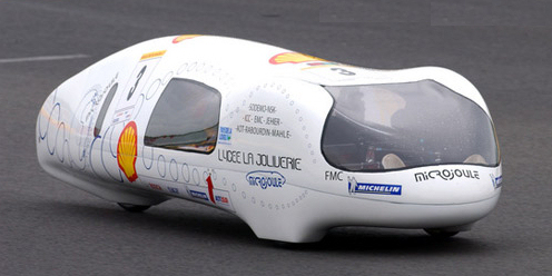Car constructed by the Lycee La Joliverie team. Image credit: Shell Eco-marathon.