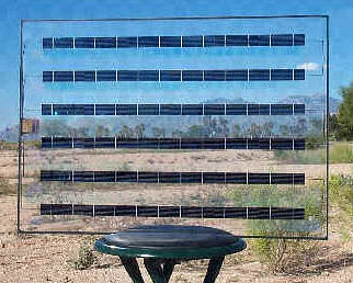 Holographic solar collector. Image credit: Prism Solar Technologies, Inc