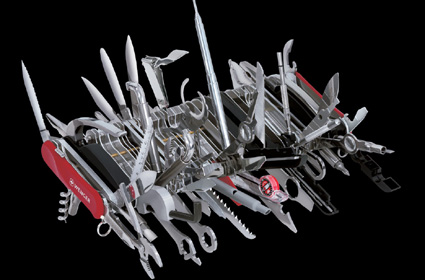 giant swiss army knife. Image credit Wenger.