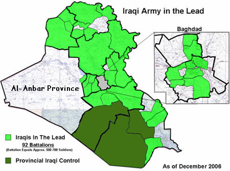 Map of Iraqi provinces under Iraqi control. Image Credit: billroggio.com