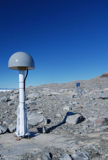 Sensing station at Greenland. Credit: David Talbot
