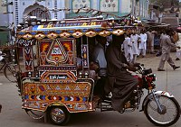 Decorated trikeshaw in Pakistan. Credit: Peter Grant Photography