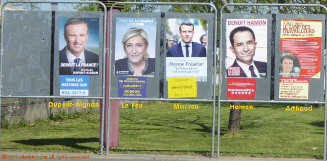 French presidential election posters, 2017