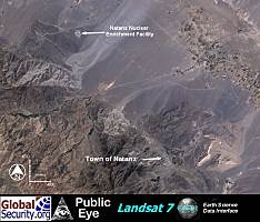 Landsat image showing nuclear research plant in Iran. Image from Global Security.org