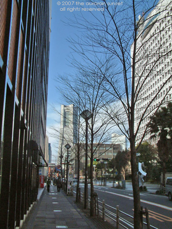 View down city street to Landmark Tower, Yokohama, Tokyo, Japan. Image credit: the auroran sunset