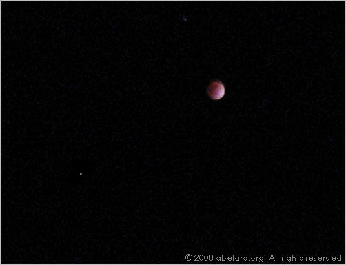 The February 2008 lunar eclipse, 02:39 GMT/UT.