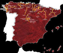 Route map for 2012 Vuelta d'Espagne